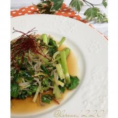 セロリの葉の炒め物