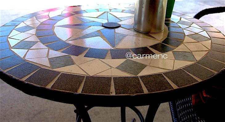 subwayモザイクテーブル