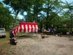 盆踊り 櫓作り