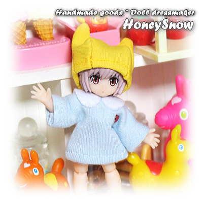 デスクトップアーミー 【スモック&ネコ耳帽子】 服 園児 幼稚園 アクアシューターズ HoneySnow