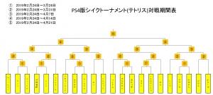 PS4シイクトーナメント(テトリス)対戦期間表
