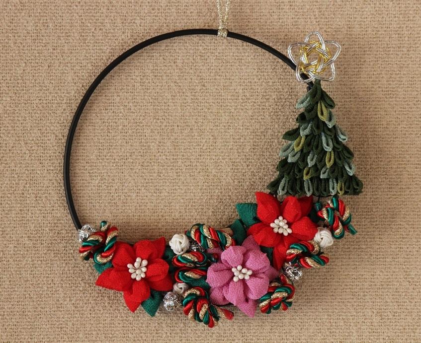 細工 リース つまみ つまみ細工でアクセサリー♡クリスマスリースに正月飾りもできるつまみ細工の作り方