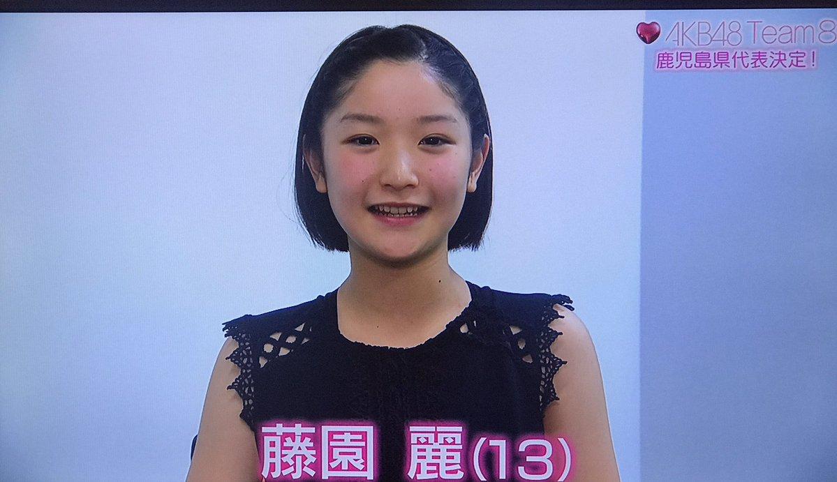 チーム8の新鹿児島県代表 藤園 麗ちゃん(13才)の顔が堂真理子アナ(37歳)っぽい