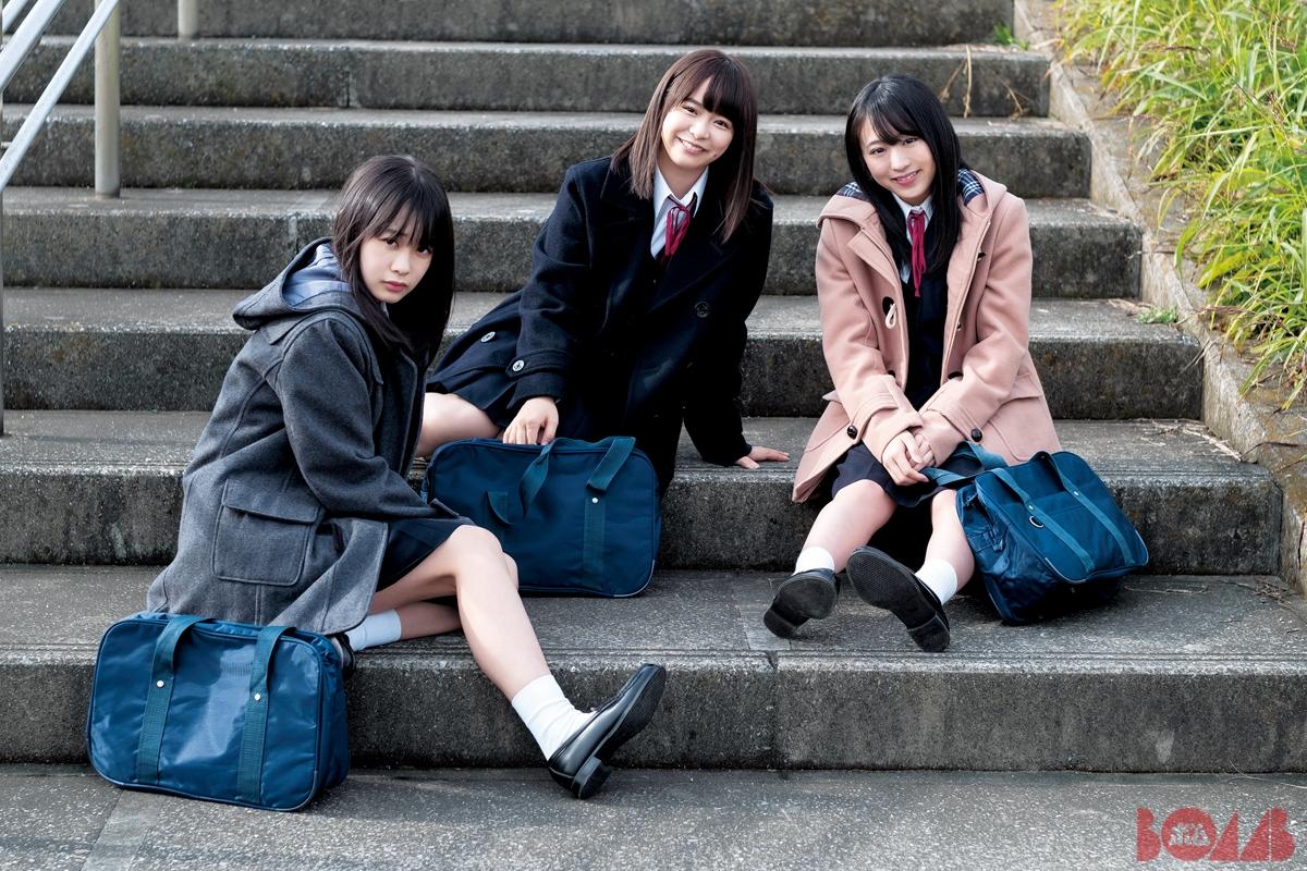 坂チーム8高校3年生トリオ坂口渚沙、横山結衣、倉野尾成美グラビアが至高