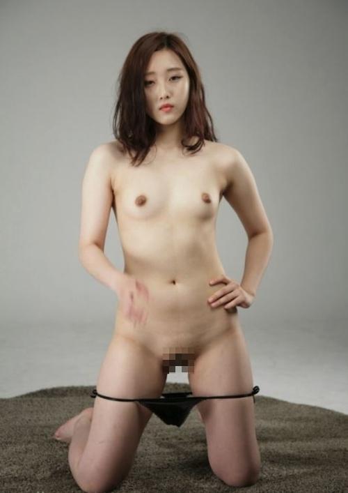 韓国素人美女のヌード撮影画像 3