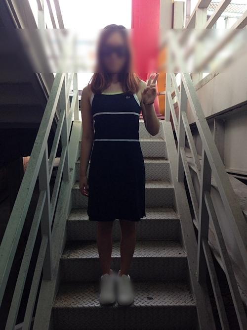 韓国素人女性の露出プレイヌード画像 1