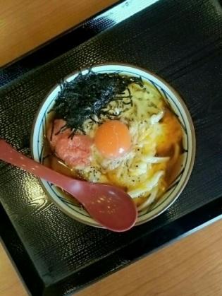 丸亀製麺明太チーズ釜玉