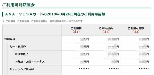 【ANA VISAカード】利用可能額が足りない時の対処法