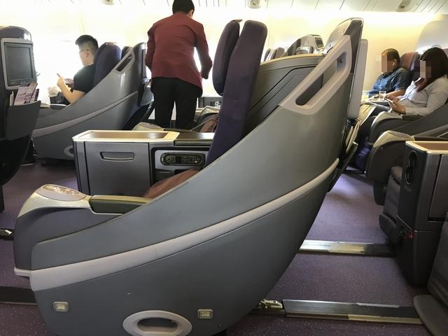 タイ航空 TG215ロイヤルシルククラス座席2.jpg