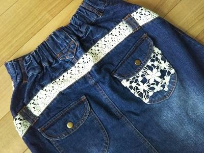 soulberryのデニムボックススカート