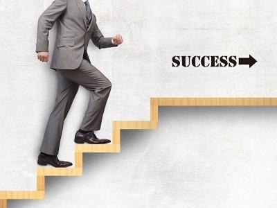 ビジネスマン ステップアップ