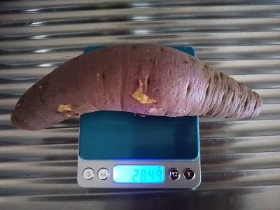 285グラムの芋