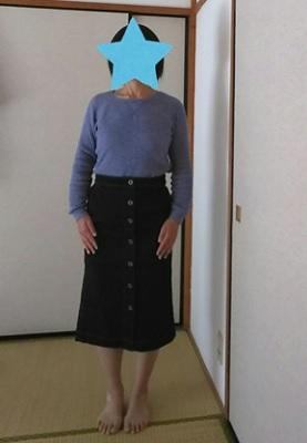 デニムスカート 着画