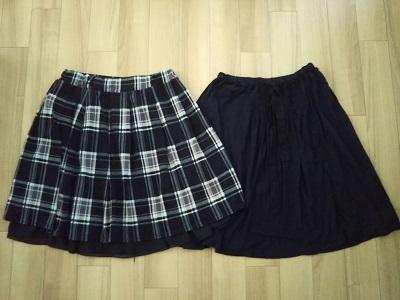 丈が微妙なスカート