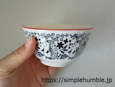 セリア ハリネズミの茶碗