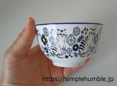 セリア 猫の茶碗