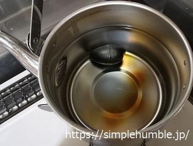 鉄玉子 お湯を沸かす