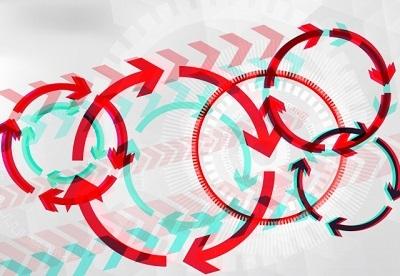 矢印 サイクル