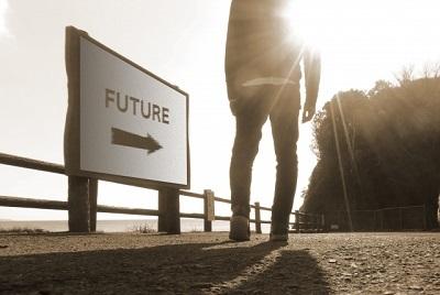 未来 看板 矢印