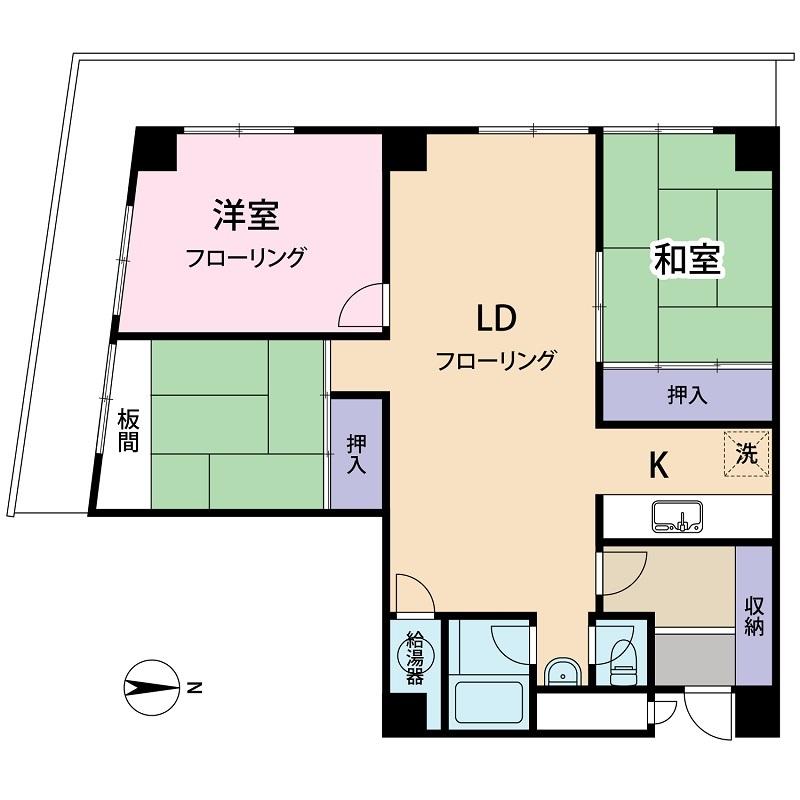 コーワ新屋敷マンション 間取り2_1500px (3)ブログ