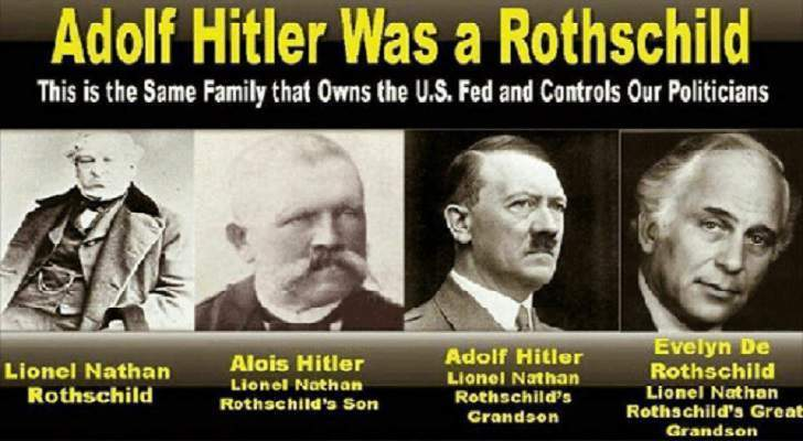 ヒトラーは偽ドイツ人 隠れ偽ユダヤ人 ロスチャイルドhitler was fake german hidden fake jews adolf-hitler-was-a-rothschild-this-is-the-same-familythat
