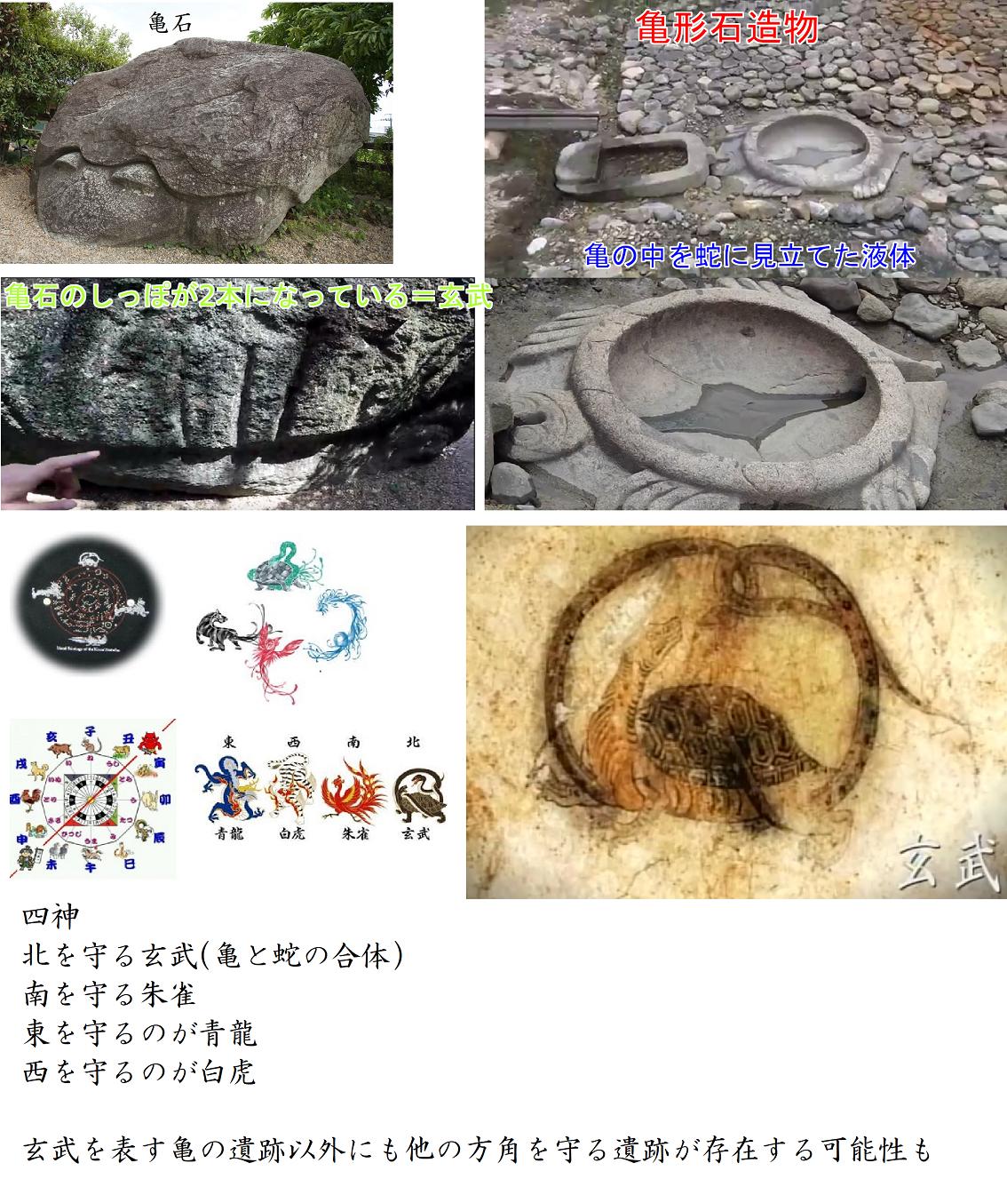 亀石、亀形石造物は北を守る玄武(亀と蛇の神)52
