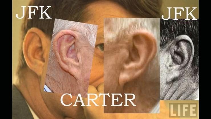 JFK Assassination Exposed Part III Pre Release Notice JFKとJimmyCarter元大統領の耳の形比較