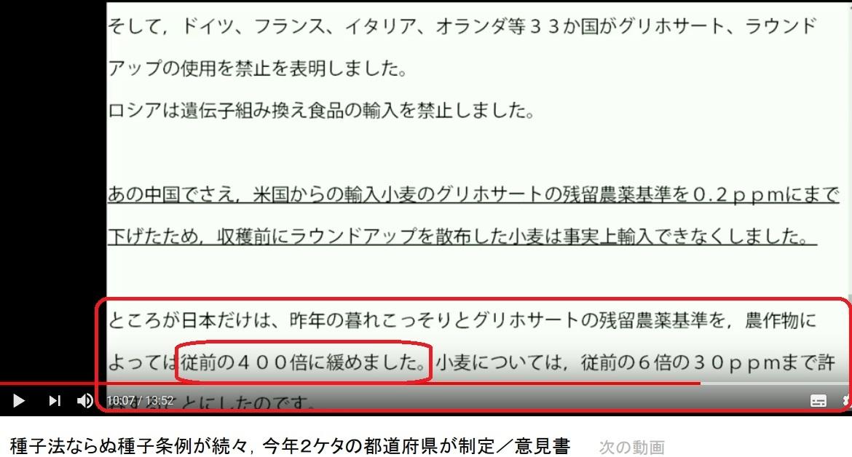日本だけ農薬基準が400倍に緩められた