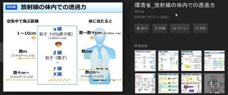 放射線の飛ぶ距離 体内と体外
