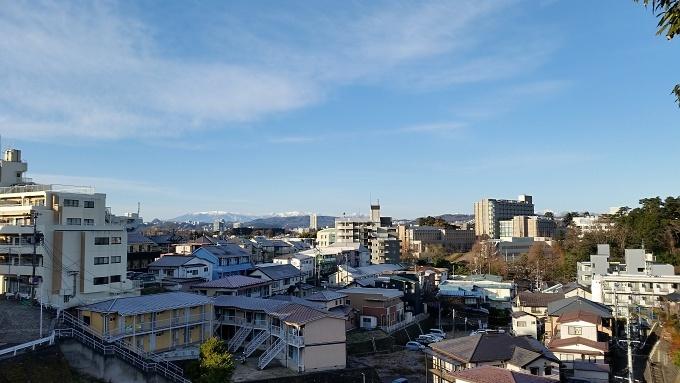 今日の仙台市内(12/16)最低気温-1.9℃素晴らしい景色です