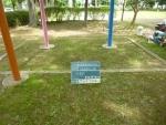 公園砂場清掃。作業前