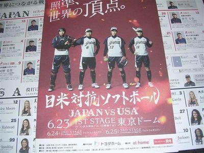 日米ソフトボール2016プログラム