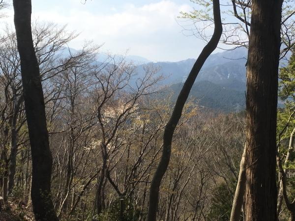1427高取山を下り始めてすぐの眺望