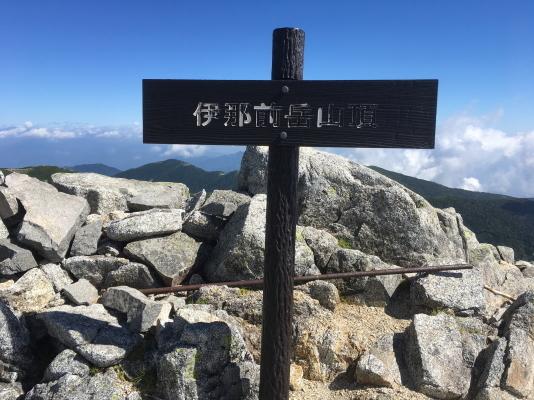 0910伊那前岳山頂