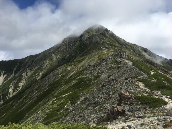 0942 北岳方面稜線