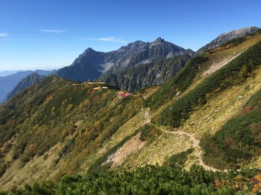 0846 ヒュッテ西岳への稜線