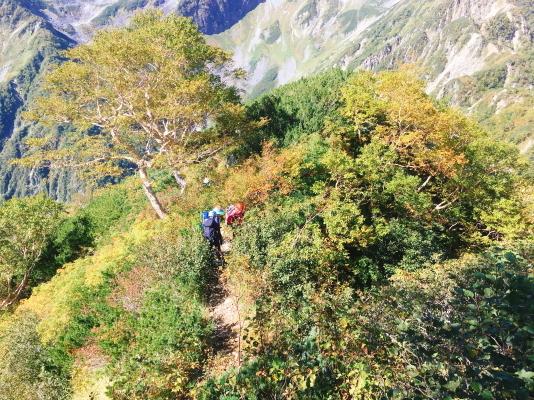 0930 高い位置より登山道