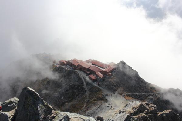 1511 山頂から槍ヶ岳山荘