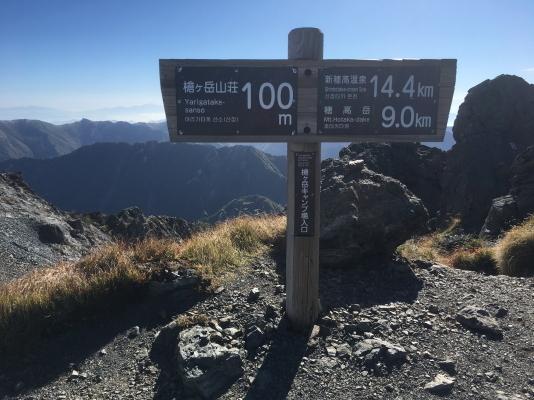 0822 道標新穂高温泉14.4km