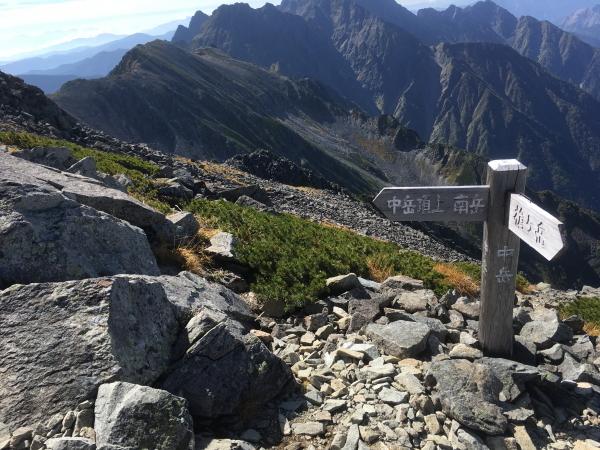 0934中岳道標 山頂表示