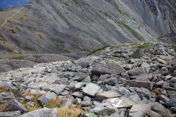 1314 ガレ r稜線