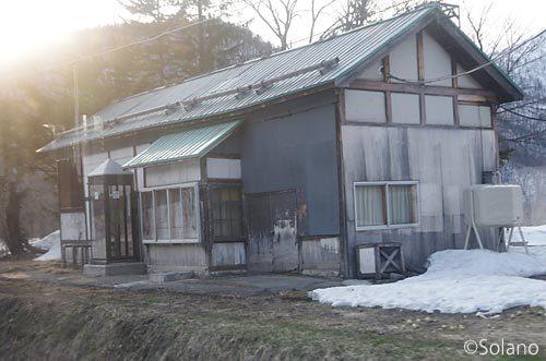JR北海道・石北本線、廃止された奥白滝駅跡(現・奥白滝信号所)