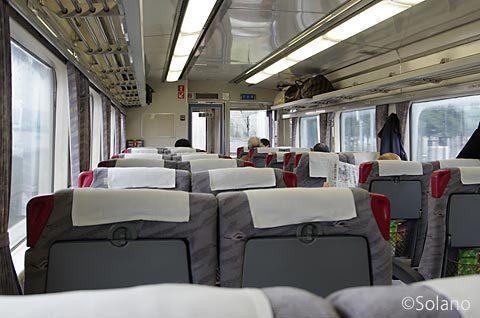 網走発札幌行き、石北本線の特急オホーツク車内