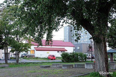 定山渓鉄道・石切山駅、かつてのプラットホームや側線あたり