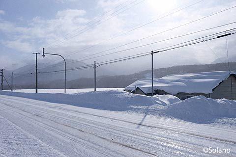 石北本線・上白滝駅‐白滝駅の駅間徒歩、幸いに晴れ
