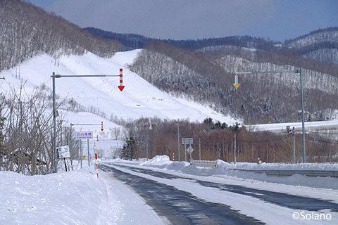 遠軽国道(国道333号線)旧白滝集落の端、旧白滝橋付近