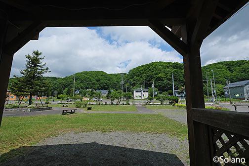 根室本線(花咲線)・別保駅前の公園