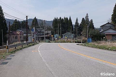 富山地鉄・立山線・千垣駅、駅から少し離れた集落