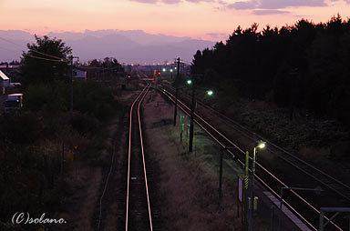 JR北海道・根室本線、夕暮れの滝川駅