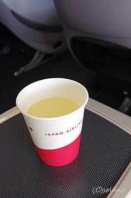 機内で出されたJALスカイタイム、シークワーサー